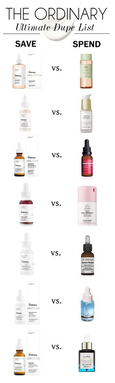 The-Ordinary-Dupe-List skincare dupes The-Ordinary-Dupe-List Hautpflege-Dupes Makeup And Beauty Blog, Beauty Hacks, Beauty Tips, Beauty Quotes, Skin Tips, Skin Care Tips, Skin Secrets, Anti Aging Skin Care, Natural Skin Care