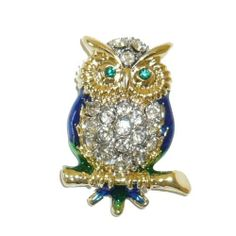 Jewelry Pin - Tiny Crystal & Enamel Owl Tac Pin Goldfinger. $4.95. Jewelry Pin - Tiny Crystal & Enamel Owl Tac Pin. Save 62%!