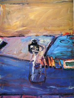 Richard Diebenkorn. Richard Diebenkorn (April 22, 1922 – March 30, 1993) was a well-known 20th century American painter. His early work is associated with Abstract expressionism and the Bay Area Figurative Movement of the 1950s and 1960s. His later work (best known as the Ocean Park paintings) were instrumental to his achievement of worldwide acclaim. Wikipedia
