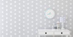 Wipe-clean Wallpaper - Grey Star