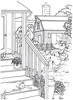 country coloring pages 38 Best Living in the Country Coloring Book Pages images | Country  country coloring pages
