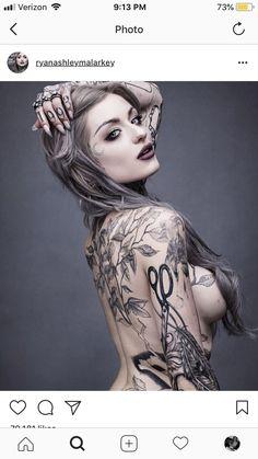 Ryan Ashley Malarkey: Ink Master's First Lady Tattoo Girls, Girl Tattoos, Tattoos For Women, Tatoos, Tattooed Women, Ryan Ashley Malarkey, Hot Tattoos, Body Art Tattoos, Tattoos Skull