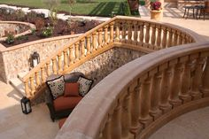 Check out this beautiful outdoor stone staircase! Click on the picture to view more unique designs. #Stone #Staircase #Landscape #Patio #Garden #Design