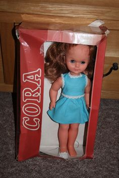 """Vintage Sebino Cora 14"""" Doll Made In Italy - Old Shop Stock 