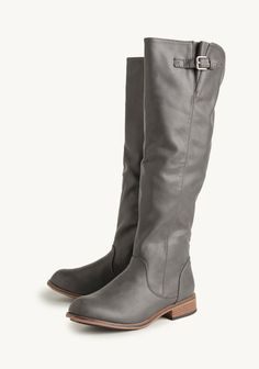 Slate gray boots from Shop Ruche.