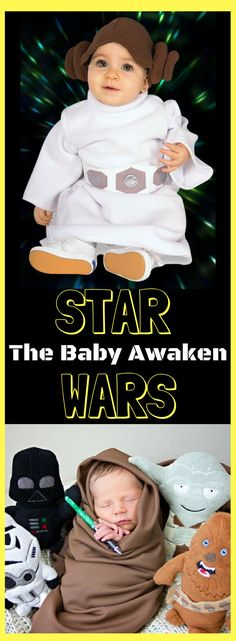 These Star Wars Baby Costume has awaken your little one to become a real Star Wars Character. #starwars #baby #costume #babycostume