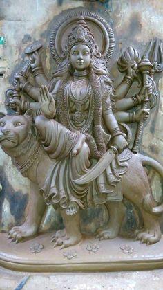 Lord Ganesha Paintings, Lord Shiva Painting, Ganesha Art, Clay Ganesha, Saraswati Goddess, Kali Goddess, Goddess Art, Ganesh Statue, India Art