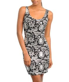G2 Fashion Square Sleeveless Abstract Printed Dressy Dress