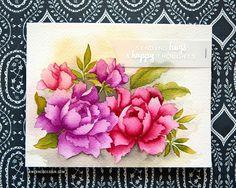 No line watercolor card, by Kristina Werner.