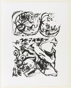 Untitled from an untitled portfolio by Jackson Pollock   (1951). Screenprint