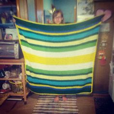 The blanket I made #crochet #stripes