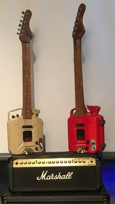 Jerry Can Guitar's that Billy made in the shed