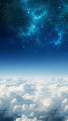 Clouds and the Starry Sky - iPhone5 Wallpaper