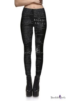 Women's Funky Digital Print Design Graphic Stretch Footless Fashion Leggings - Beautifulhalo.com