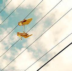 Still life photography, fine art photograph, shoes, high heels, cloudy sky, wall art print on Etsy, $16.84