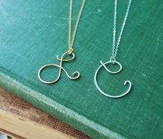 Initial Pendants Necklaces.
