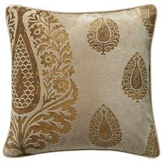 Shambhala Cushion Cover, Large - Silver/Gold