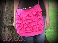 Ruffled tote#Repin By:Pinterest++ for iPad#