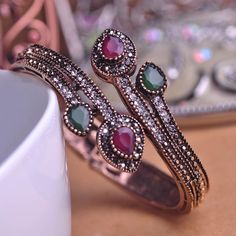 New Design Exquisite Vintage Bangles Carved Bud Charm Spiral pulsera cuantificadora pulseiras femininas masculina Pokemon coroa $10.10 Like and share this pure awesomeness!Visit us: www.fancyjewelrie... #Ring #Jewelry #homemade #shop #beauty #Woman's fashion #Products