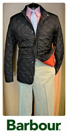 FLIP's Pick of the Day: Barbour quilted jacket (L), Bobby Jones shirt (M), Bills Khakis slacks (36) & FLIP tie!Stop by to see th...