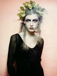 """Photographer: Paolo Roversi   Model: Angela Lindvall"""