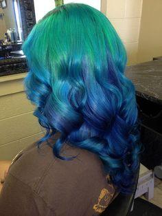 Tessa's soft ocean hair