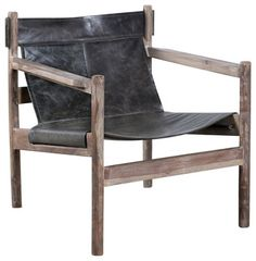 Arlan Sling Chair - rustic - Living Room Chairs - C.G. Sparks