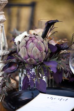 Purple + Artichoke  |  Spring Shores Lodge Idaho Styled Wedding Shoot | Pinkous