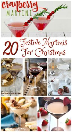 People often mistake Martinis to Cocktails. But there is a slight difference! Cocktails are made of two or more ingredients, one of which is an alcoholic spirit. Martinis are a different version of cocktails made with gin and& Christmas Martini, Christmas Cocktail Party, Christmas Cocktails, Holiday Cocktails, Martini Party, Martinis, Dessert Drinks, Yummy Drinks, Papa Noel