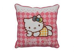 Hello Kitty throw pillow. Organic cotton.