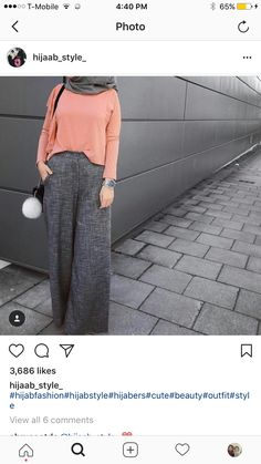 How to wear palazzo pants with hijab – Just Trendy Girls Fashion pants outfits Casual Hijab Outfit, Hijab Chic, Hijab Dress, Islamic Fashion, Muslim Fashion, Modest Fashion, Fashion Pants, Girl Fashion, Fashion Outfits
