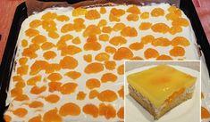 Prudce žravé mandarinkové řezy se zakysanou smetanou Kefir