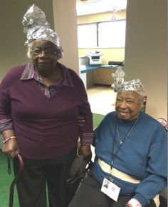 Our members pose with their tin foil hats for Hat Day.