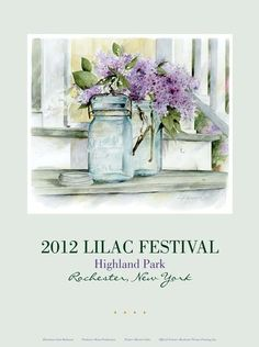 Highland Park Lilac Festival Poster 2006 Rochester NY