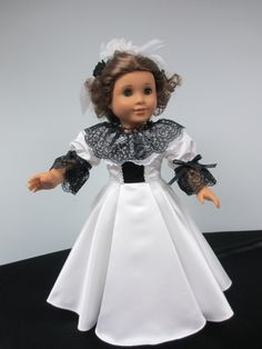 1880's Victorian Satin and Lace Ball Gown by karenstinytreasures