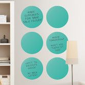 Found it at Wayfair - WallPops Dot Whiteboard Wall Decal