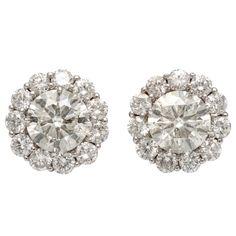 Bold Diamond Stud Earrings with Diamond Jackets