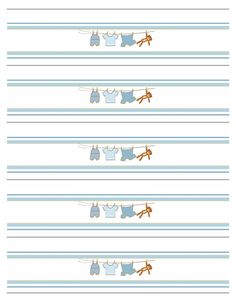 FREE baby shower printables: baby water bottle labels