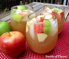 Apple Cider Sangria - Swirls of Flavor