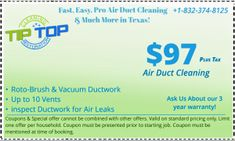 Coupons & Special offers on Air Duct Cleaning, Dryer Vent Cleaning, Mold and & Mildew Elimination, Carpet Cleaning, HVAC Restoration. Coupons In Houston for Air Duct Cleaning Cleaning Air Vents, Vent Duct, Deep Cleaning Services, Clean Dryer Vent, Cleaning Maid, Clean Air Ducts, Top Air, How To Clean Carpet, Houston