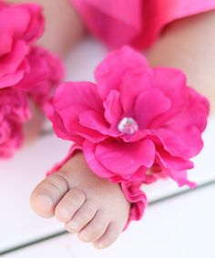 Hot Pink Drama Queen Barefoot Sandal   Daily deals for moms, babies and kids