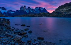 Photograph by Stuart Litoff.  #CuernosDelPaine #mountains and Lake #Pehoe in #TorresdelPaine #NationalPark, in the #Patagonia region of #Chile.