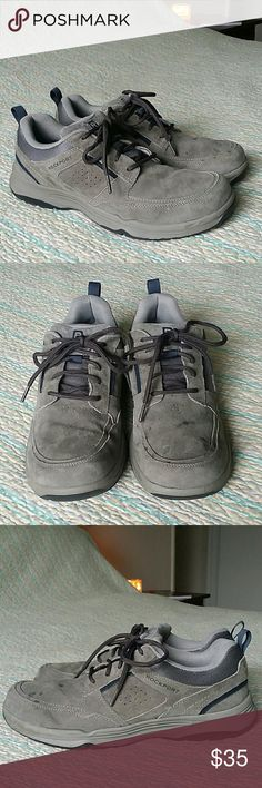 Rockport Walkability Athletic Walking Shoes Sz 9 M Rockport Walkability Athletic Walking Shoes Sz 9 Mens Gray Suede Leather Lace Up Rockport Shoes Sneakers