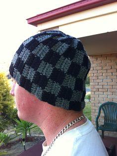 Checkered hat free crochet hat pattern crochetknit yarn crochet beanie pattern crochet hats crochet ideas crochet projects crochet patterns my son beanie hats beanies desserts dt1010fo