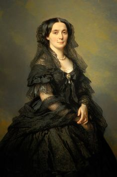 Elena Pavlovna Bibikova by Franz Xaver Winterhalter, 1860 Russia - she must have been very proud of the mole. Lovely lady.