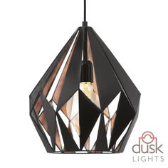 The Eglo 49254 is a 1 light ceiling pendant in black/copper. This fitting is from the range by Eglo. Cage Pendant Light, Mini Pendant Lights, Modern Pendant Light, Pendant Light Fixtures, Ceiling Pendant, Light Fittings, Pendant Lamp, Pendant Lighting, Ceiling Lights