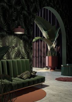 8. This room uses literal light to illuminate the couch/wall and also the plant, or the other room.