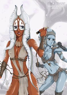 AAyla Secura and Shaak Ti by on DeviantArt Star Wars Characters Pictures, Star Wars Pictures, Star Wars Images, Star Wars Concept Art, Star Wars Fan Art, Star Wars Jedi, Star Wars Clone Wars, Star Wars Figurines, Star Wars Drawings