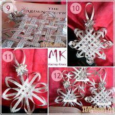 Krasoten sněhové vločky z novin. Deck The Halls, Master Class, Advent Calendar, Gift Wrapping, Holiday Decor, Christmas, Crafts, Craft Ideas, Hands