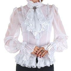 Camisa Victoriana Blanca estilo Ropa Gotica Crazy in love
